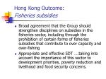 hong kong outcome fisheries subsidies