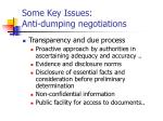 some key issues anti dumping negotiations3