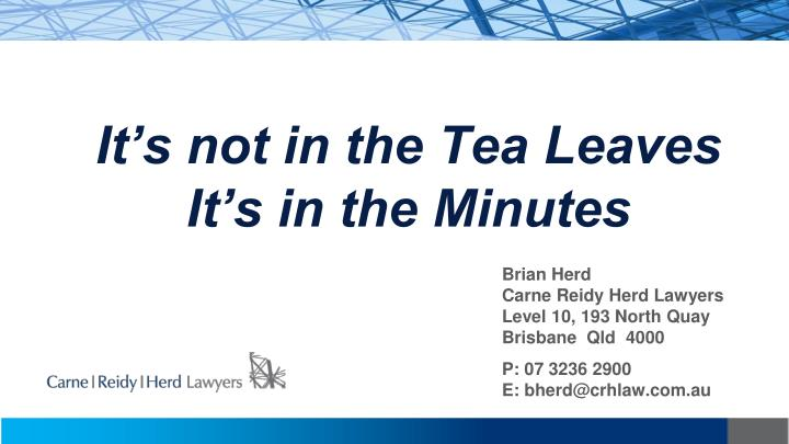 it s not in the tea leaves it s in the minutes n.