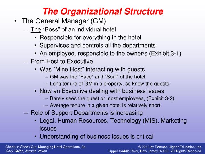 the structure of the hotel industry