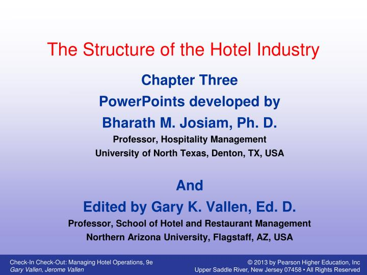 the structure of the hotel industry n.