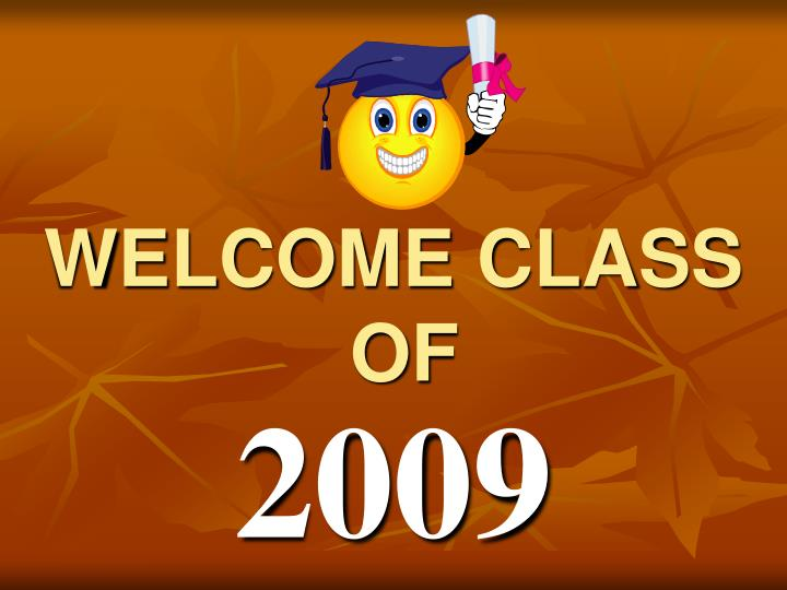 welcome class of n.