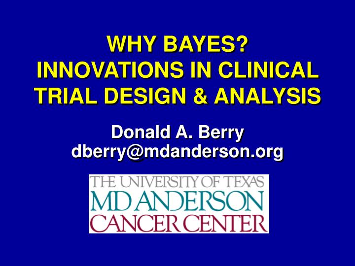 why bayes innovations in clinical trial design analysis n.