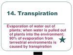 14 transpiration
