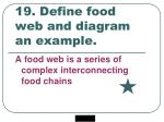 19 define food web and diagram an example