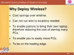 why deploy wireless