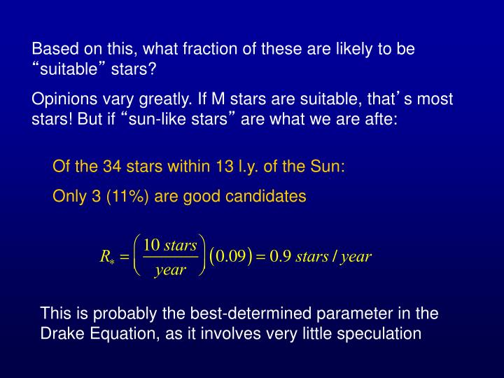Based on this, what fraction of these are likely to be