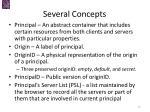 several concepts