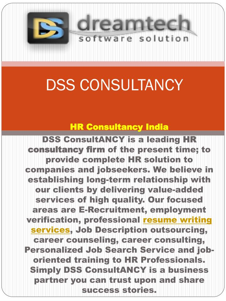 dss consulting Consulting through junior and senior level consultants, we can guide you though the maze of digital systems, recommending a solution that is optimal for your needs.