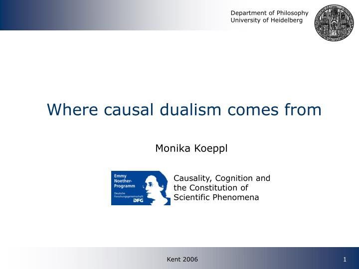 where causal dualism comes from n.