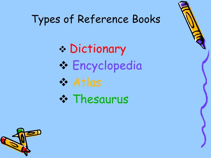 Types of Reference Books