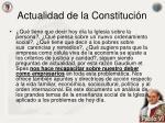 actualidad de la constituci n