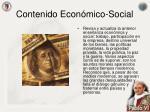 contenido econ mico social