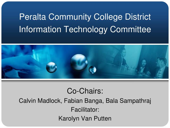 peralta community college district information technology committee n.