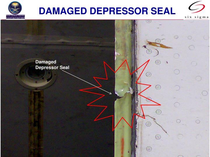 Damaged depressor seal