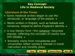 key concept life in medieval society1
