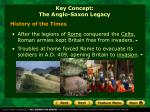 key concept the anglo saxon legacy