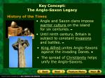key concept the anglo saxon legacy1