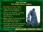 key concept the anglo saxon legacy2