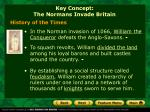 key concept the normans invade britain
