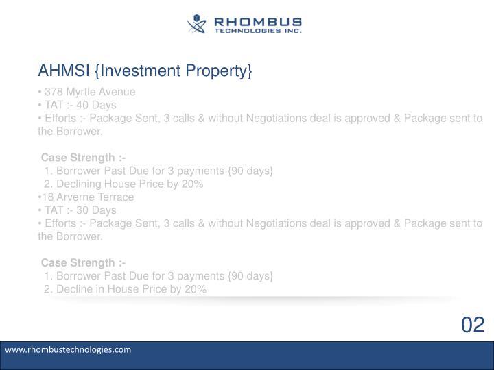 Ahmsi investment property