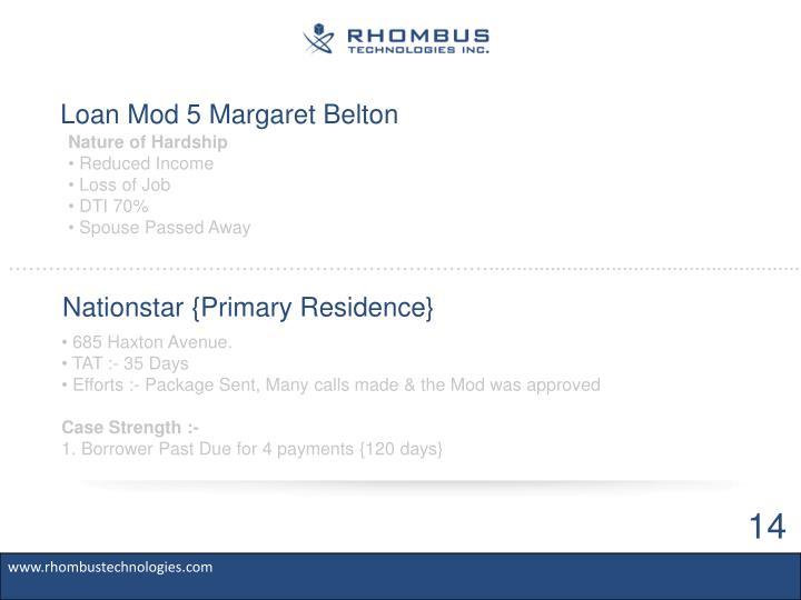 Loan Mod 5 Margaret Belton