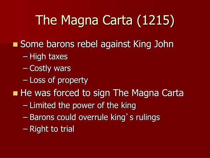 The Magna Carta (1215)