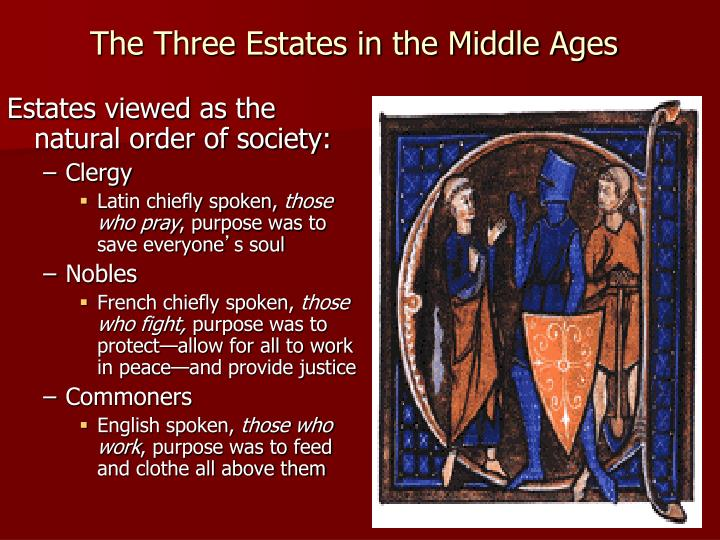 The Three Estates in the Middle Ages