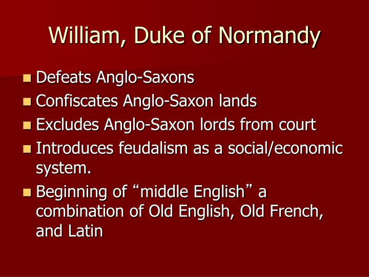 William, Duke of Normandy