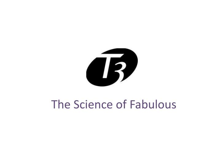 the science of fabulous n.