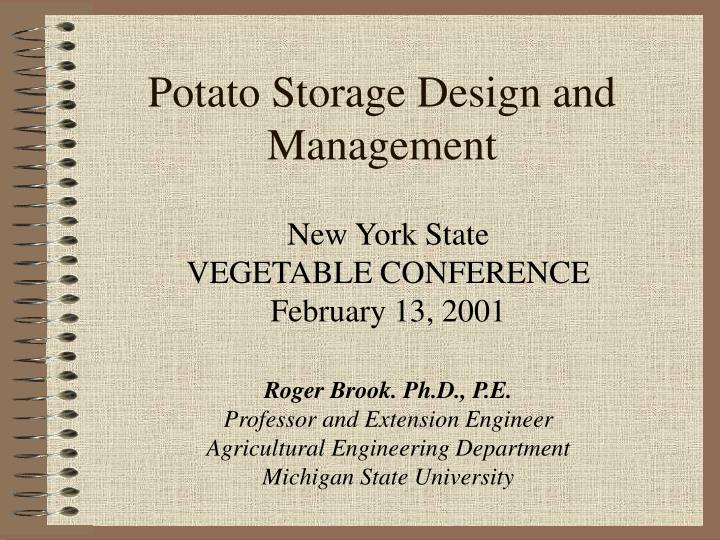 potato storage design and management n.