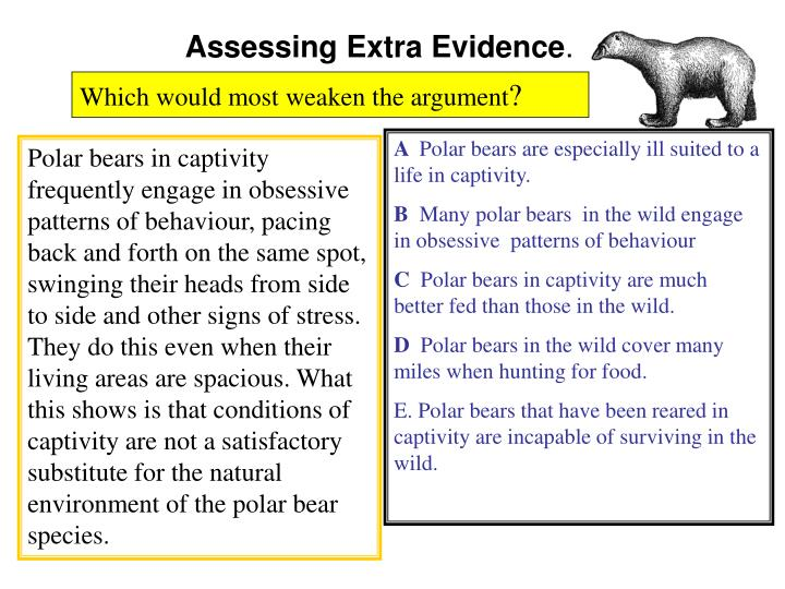 Assessing Extra Evidence