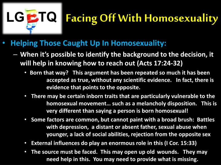 Facing Off With Homosexuality