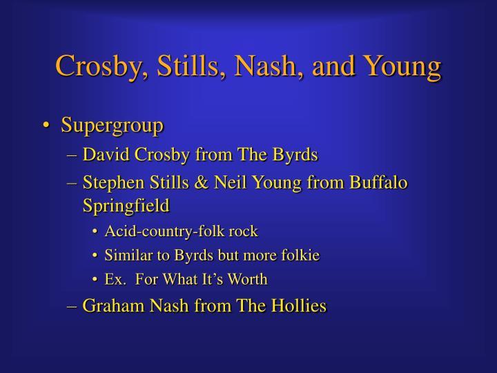 Crosby stills nash and young