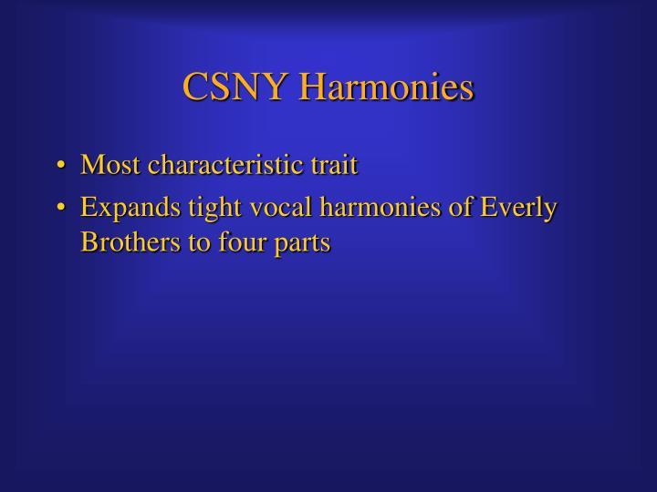 CSNY Harmonies
