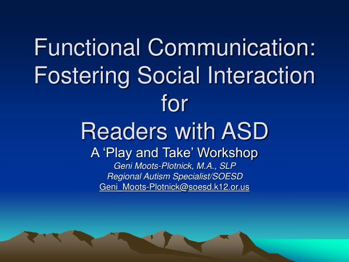 functional communication fostering social interaction for readers with asd n.