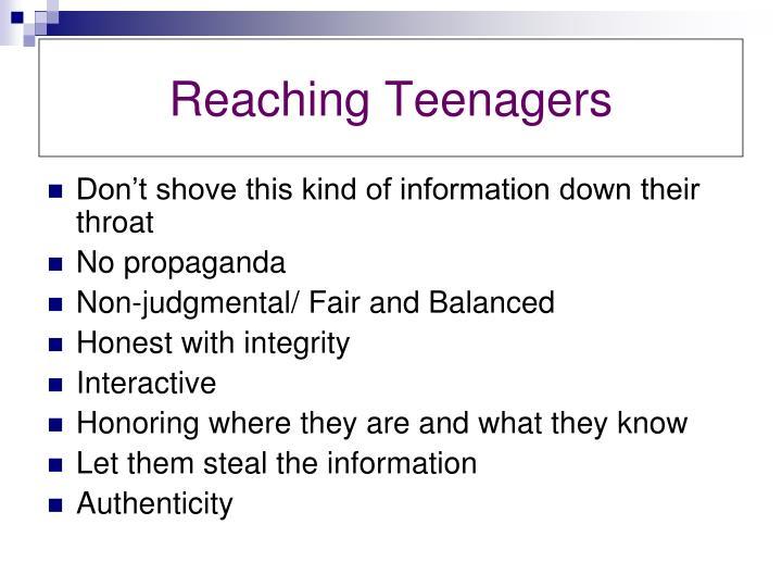 Reaching Teenagers
