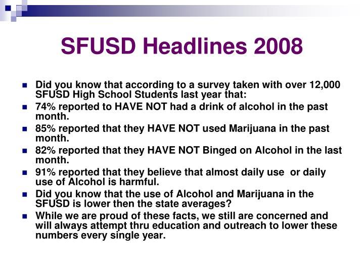 SFUSD Headlines 2008