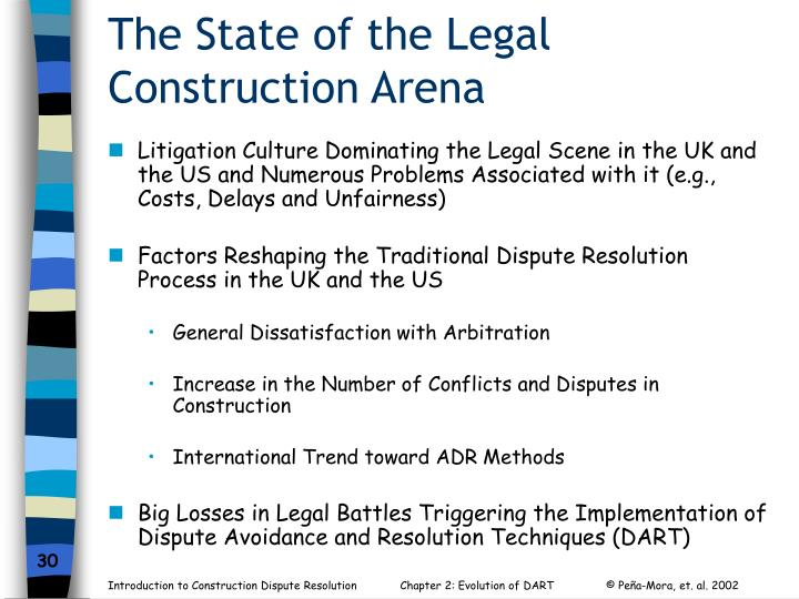 The State of the Legal Construction Arena