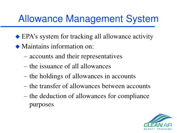 Allowance Management System