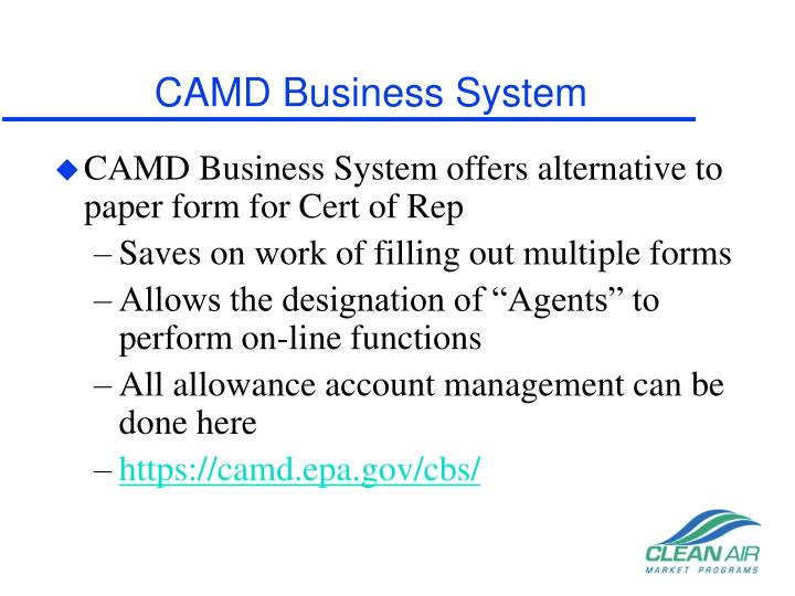 CAMD Business System