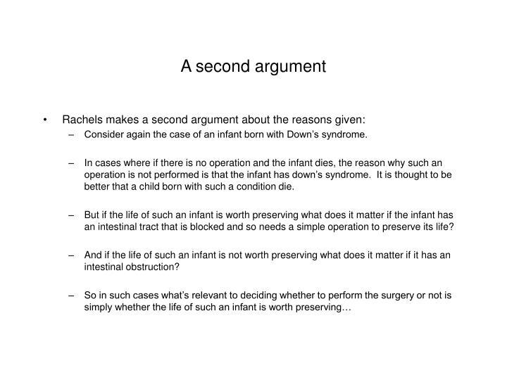 A second argument