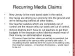 recurring media claims