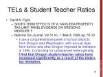 tels student teacher ratios