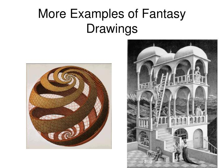 More Examples of Fantasy Drawings