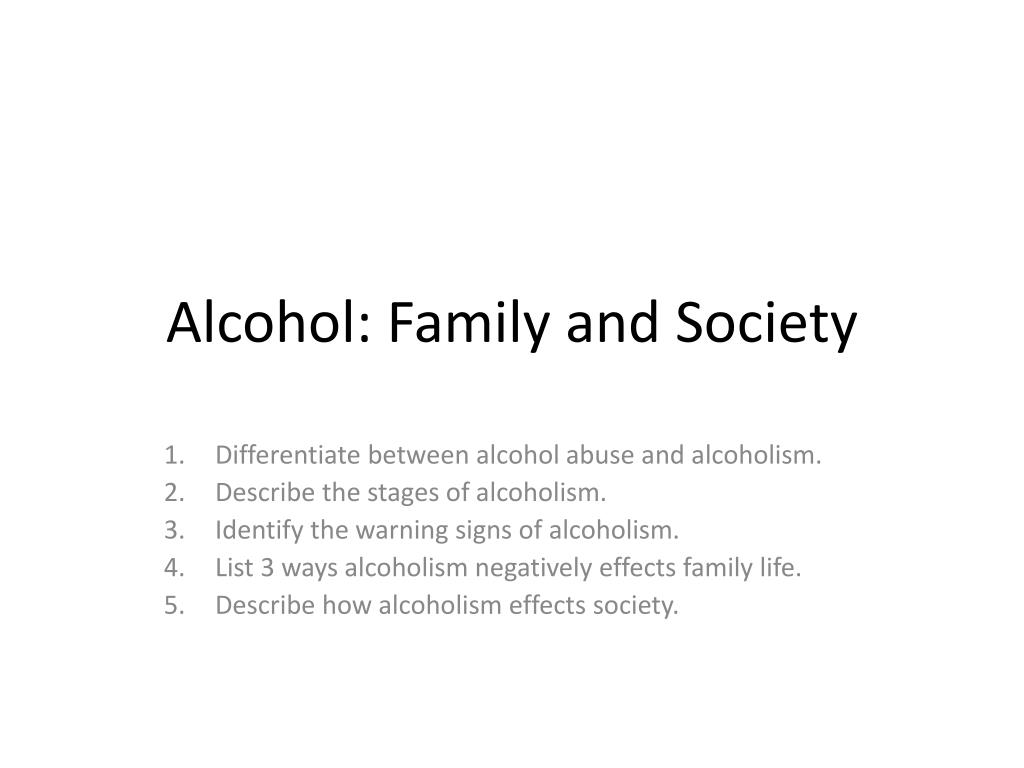 effects of alcohol on family life