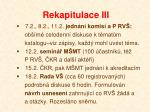 rekapitulace iii