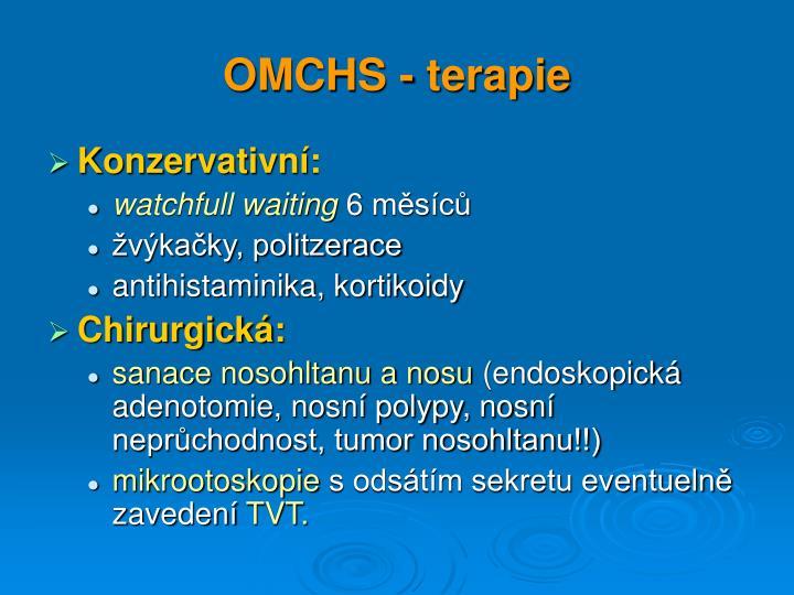 OMCHS - terapie