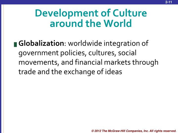 Development of Culture