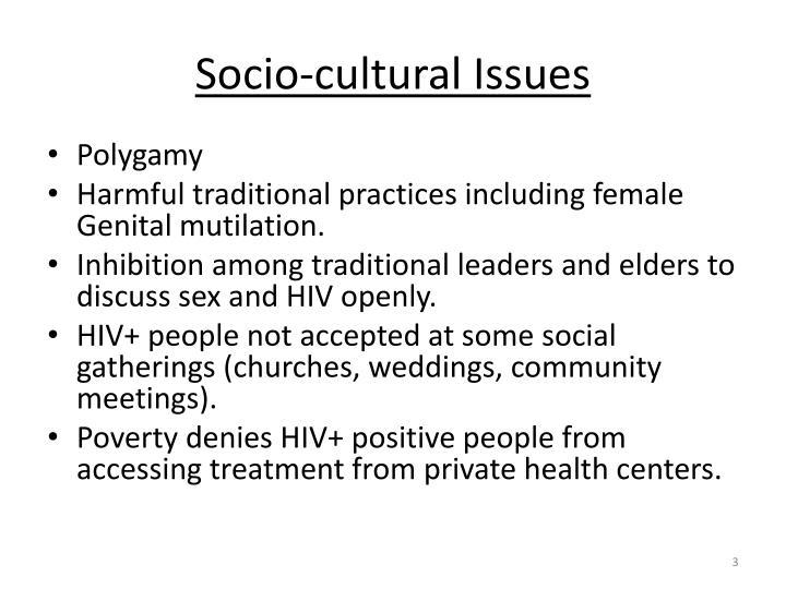Socio cultural issues